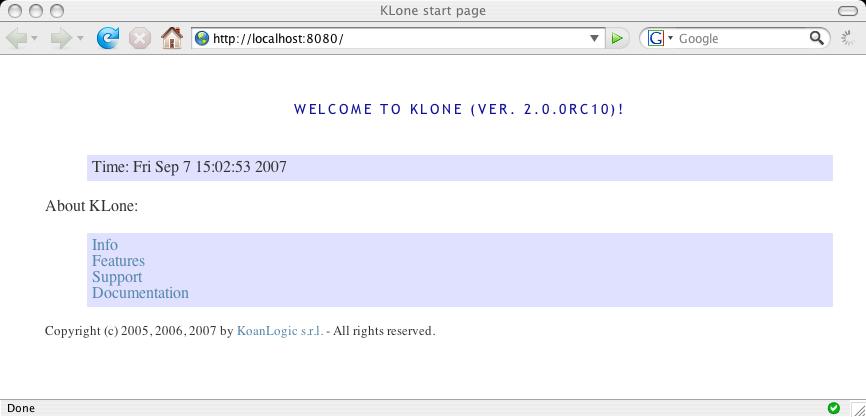 KLone Embedded Web Server - Tutorial